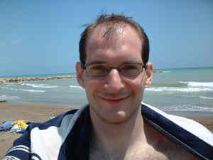 Martin at the beach in Benicassim