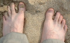 tbm's toes in the sand