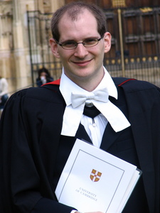 Martin at his PhD graduation
